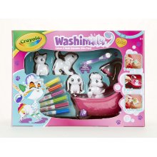 Crayola Washimals Playset, Colour and Design, Washable, Re-Usable Pets Gift for Kids