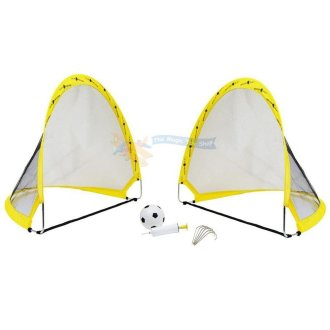 Twin Pop up Goal Set with Zip up Carry Bag