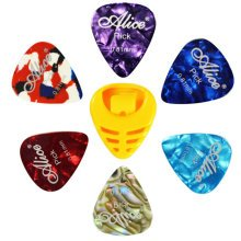 6 PCS Fingers Music Play Guitar Picks Acoustic Guitar Thickness -0.81 MM