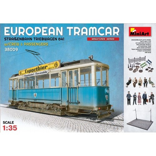 Min38009 - Miniart 1:35 - European Tram Car with Crew & Passengers