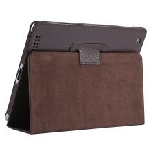Stylish iPad Case iPad 2/3/4 Drop Resistance Protective Cover Support Brown