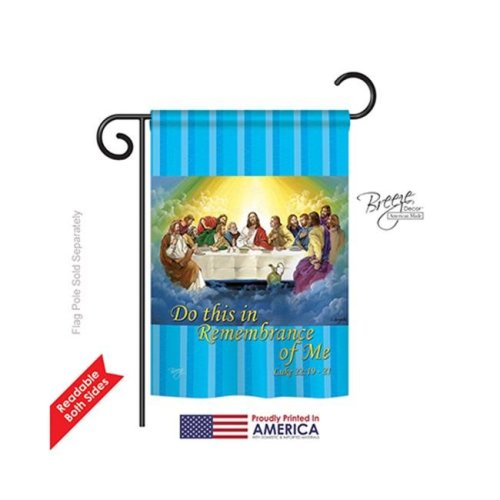 Breeze Decor 53045 Last Supper 2-Sided Impression Garden Flag - 13 x 18.5 in.