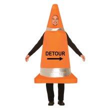 Traffic Cone Costume -  fancy dress traffic cone costume stag night mens funny outfit adult road TRAFFIC CONE COSTUME OUTFIT FANCY DRESS PARTY HEN