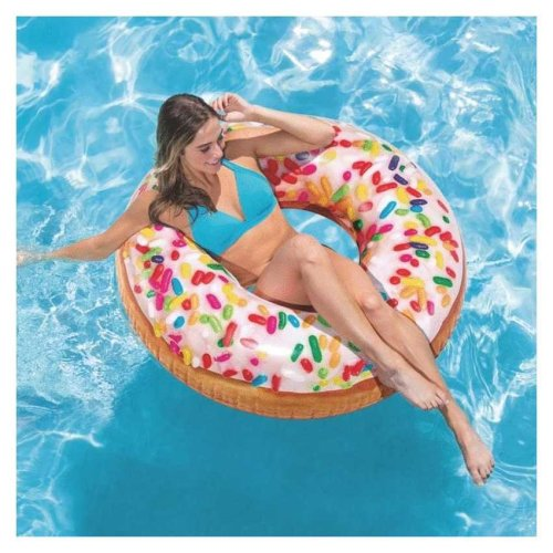 Intex 56263 Sprinkling Donut Inflatable Mattress for the Pool and Beach
