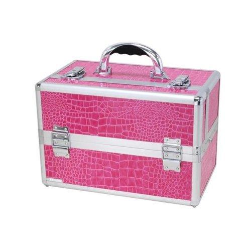 TZ Case TC-07 PA Mini Pro Cosmetic Case, Pink Alligator