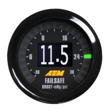 AEM 30-4900 Wideband Air Fuel Ratio and Boost in 1 Gauge, Black