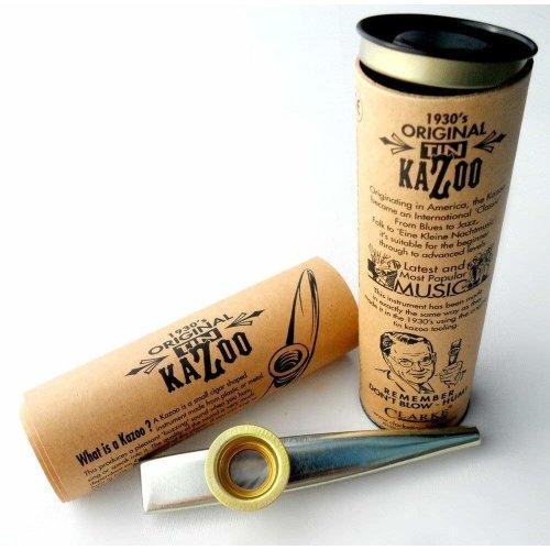 Kazoo Metall - Original in Pappröhre verpackt