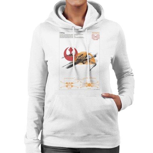 Star Wars X Wing Starfighter Orthographic Women's Hooded Sweatshirt