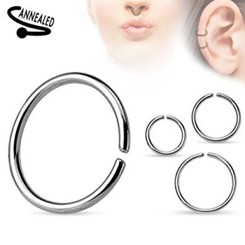 Surgical Steel Rounded Edges Annealed Seamless Tragus, Cartilage or Septum Piercing