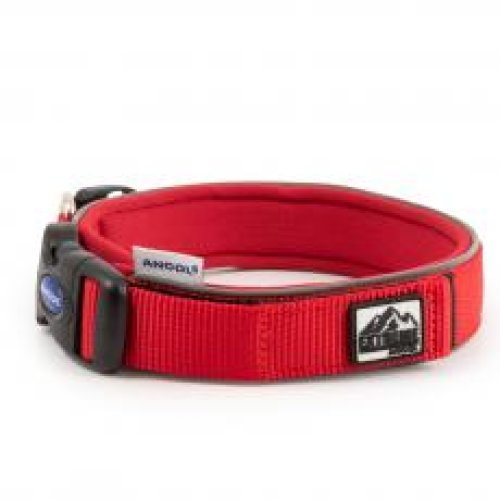 Extreme Nylon Padded Collar Red Size 5 40-46cm
