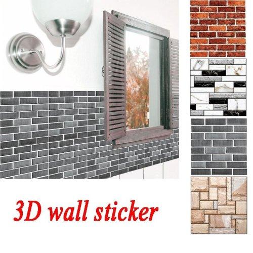 DIY 3D Wallpaper Tile Sticker Self-sticking