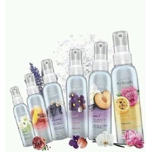 6 x Avon Naturals Scented Spritz Room Linen Home Spray 100ml Mixed