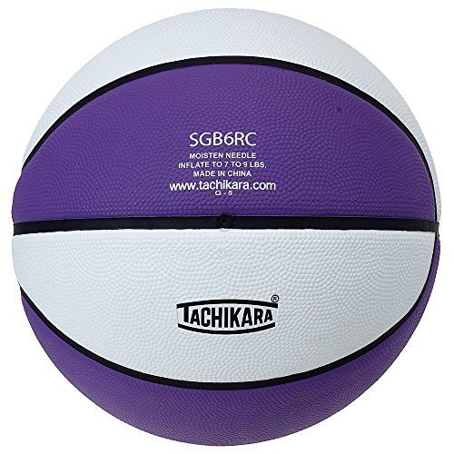 Tachikara Intermediate Size, 2-Tone Rubber Basketball (Purple/White)