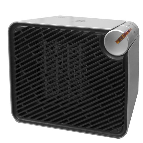 Adax VV22T Small Portable Electric Fan Heater With Thermostat, 900W / 1200W, Modern