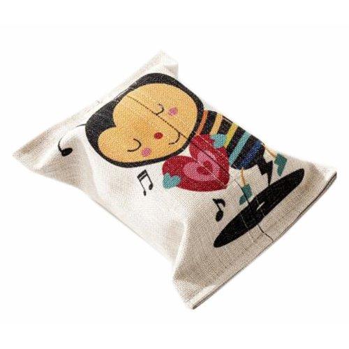 Convenient Cloth Toilet Paper Tissue Holder Storage Box Bee Multicolor
