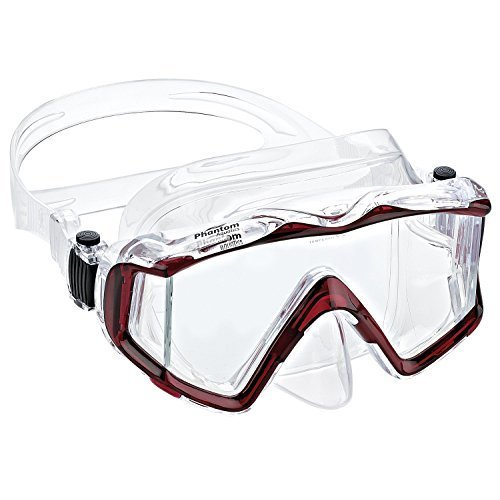Phantom Aquatics Panoramic Scuba Snorkeling Dive Mask Red