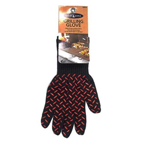 Blue Rhino 00339TV Barbecue Heat-Resistant Glove, Black & Red
