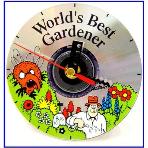 Cd Clock World's Best Gardener
