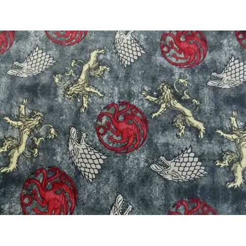 Fat Quarter Game Of Thrones Cotton Quilting Fabric Power Play 3 Main Houses