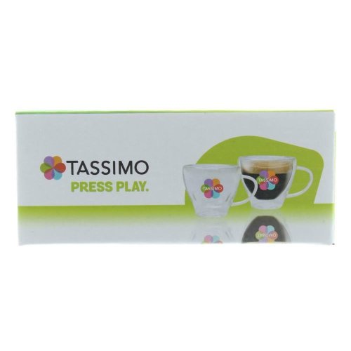 Pack Of 2 Original Tassimo Glass Coffee Cups