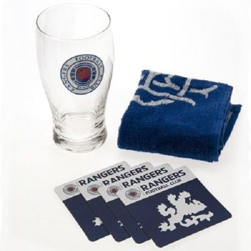 Official Licensed Football Product Glasgow Rangers Mini Bar Set - Ideal Gift
