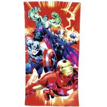 140cm x 70cm Avengers Towel - 3 Assorted Designs. -  beach bath towel avengers marvel kids towels boys disney cotton character girls official holiday