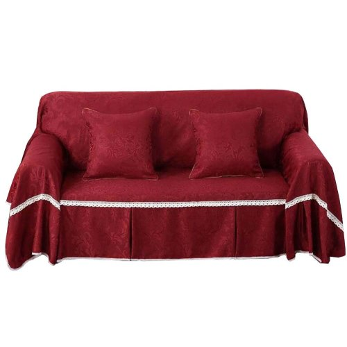 3 Seat Sofa Slipcover Elegant Couch Cover Furniture Protector #28
