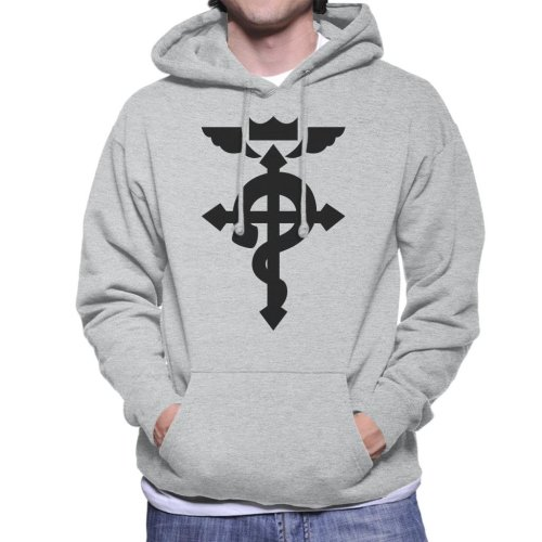 Fullmetal Alchemist Logo Chibi Men's Hooded Sweatshirt
