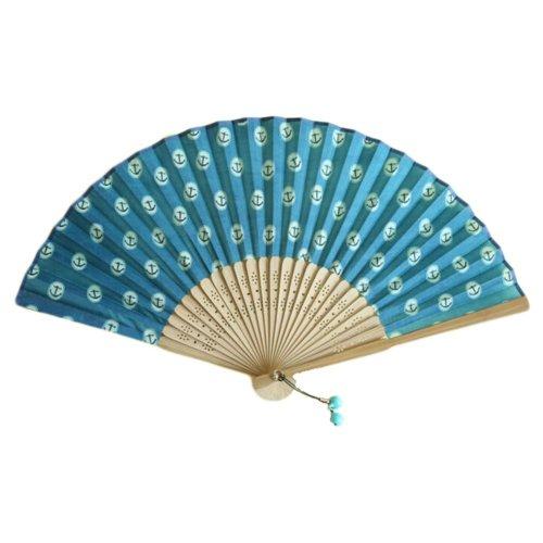 Creative Country Style Folding Fan Summer Fan Light purple