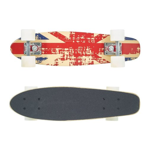 "Vinsani 22"" Cruiser Union Jack Design Outdoor Ride Maple Skateboard"