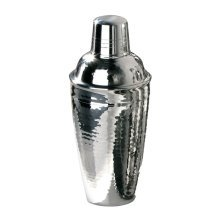 0.5 L Cocktail Shaker, Hammered Stainless Steel