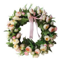 Artificial Wreath Hanging Floral Garland Door Wreath Wedding Decor #01