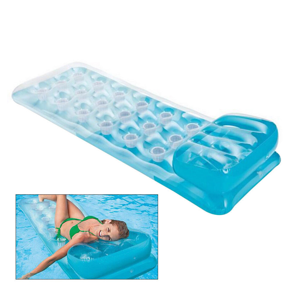 Giant Inflatable Mattress Float Air Bed Floating Raft Swim ...