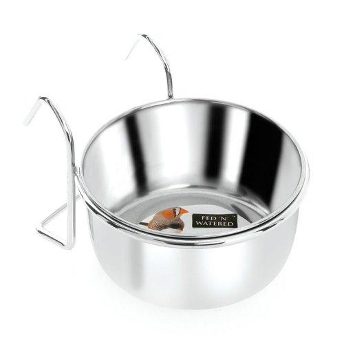 Fed 'n' Watered Coop Cup & Hook Holder (9cm)