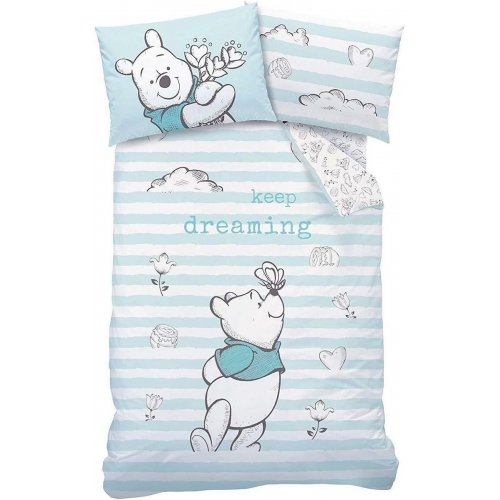 Disney Winnie the Pooh Butterfly Reversible Single Duvet Cover