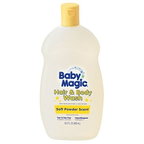 Baby Magic Hair And Body Wash 16.5 Ounce Soft Powder Scent (488ml)