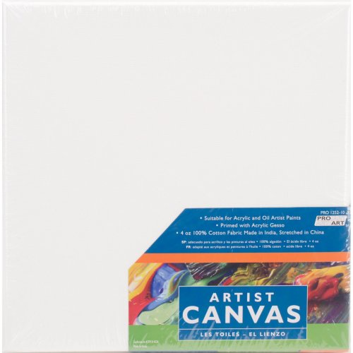 "Pro Art Stretched Canvas 2/Pkg-10""X10"""