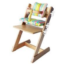 Q-MOMO Wooden High Chair, Stripes