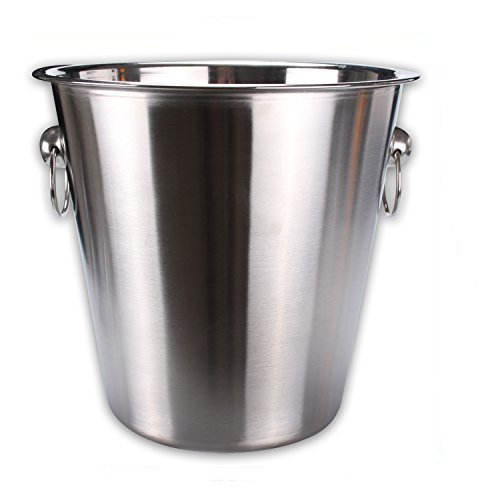 Reception 4615126 Champagne Bucket Stainless Steel with Rings