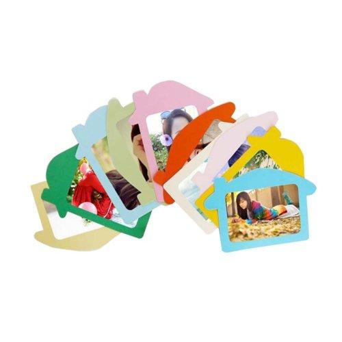 Creative House Shape Set of 10 Paper Photo Frames