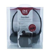 One For All Comfort Headphones With Pick-Up Microphone Black