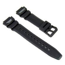 Casio watch strap watchband Resin Band black for SGW-400H SGW-300H