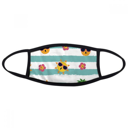 Pineapple Sun Glass Flower River Mouth Face Anti-dust Mask Anti Cold Warm Washable Cotton Gift