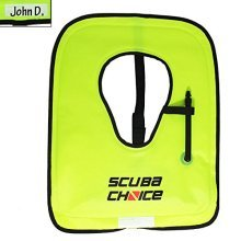 Scuba Choice Scuba Choice Adult Neon Yellow Snorkel Vest with Name box, Large