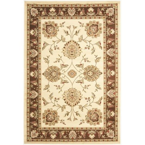 Safavieh LNH555-1225-7SQ 6 ft. 7 in. x 6 ft. 7 in. Square Lyndhurst Ivory & Brown Traditional Rug
