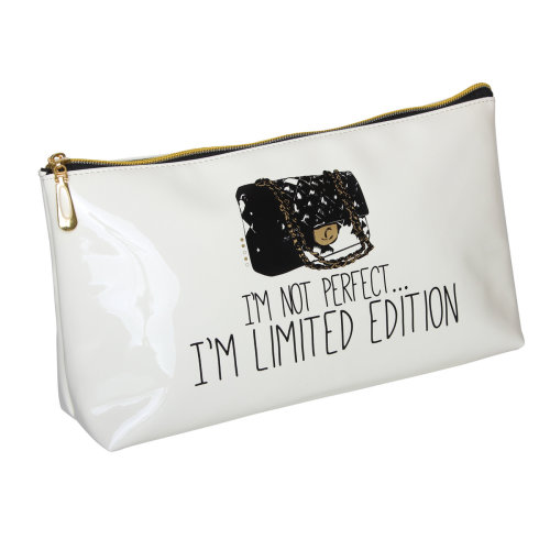 FMG Long Cosmetics Make Up Bag, I'm Not Perfect