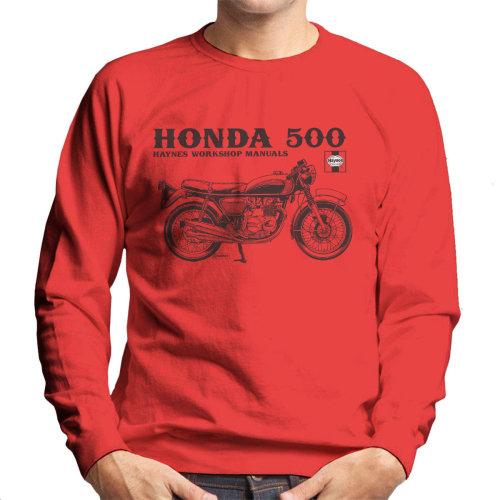 Haynes Owners Workshop Manual Honda 500 Men's Sweatshirt
