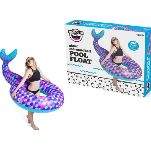 BigMouth Inflatable Giant Mermaid Tail Pool Float Beach Holiday Swimming Lounger Water Beach