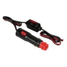 Black 12v & 24v Cigarette Lighter Plug With External Fuse Holder - Socket Power -  cigarette lighter plug fuse socket power onoff switch cable12v 24v