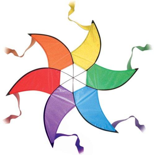 Large Rainbow Spinner - Garden Decoration or Kite Tail
